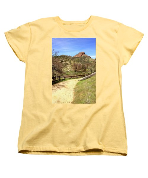 Women's T-Shirt (Standard Cut) featuring the photograph Balconies Trail - Pinnacles National Park by Art Block Collections