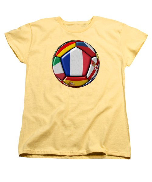Ball With Flag Of France In The Center Women's T-Shirt (Standard Cut) by Michal Boubin