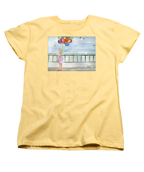 Women's T-Shirt (Standard Cut) featuring the painting Baloons by P J Lewis