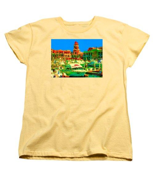 Barcos Cerca Paraiso Women's T-Shirt (Standard Cut)