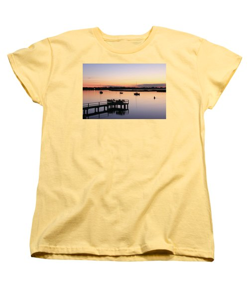 Bass River Before Sunrise Women's T-Shirt (Standard Cut) by Roupen  Baker
