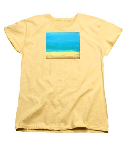 Beach Abstract Women's T-Shirt (Standard Cut) by D Hackett