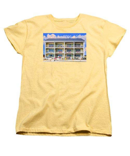 Beach Front Hotel Women's T-Shirt (Standard Cut) by Robert FERD Frank