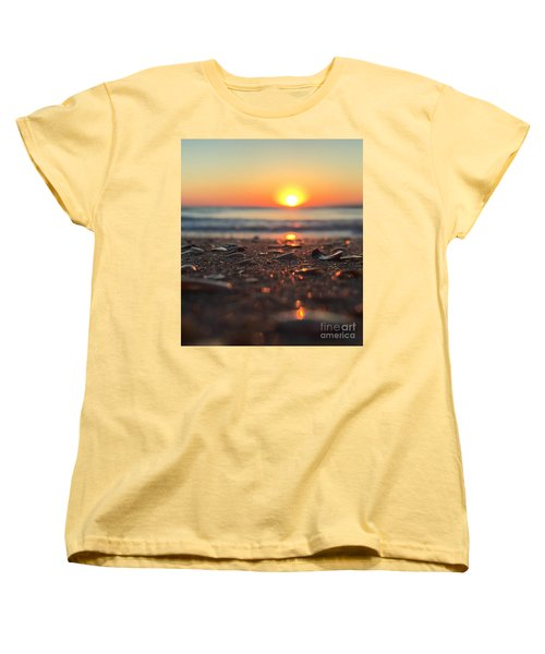 Beach Glow Women's T-Shirt (Standard Cut) by LeeAnn Kendall