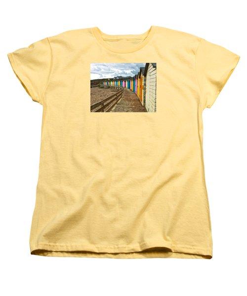 Beach Huts Women's T-Shirt (Standard Cut) by RKAB Works
