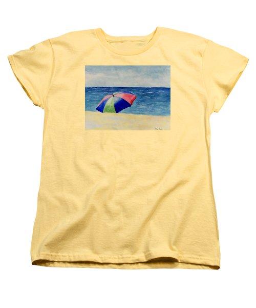 Beach Umbrella Women's T-Shirt (Standard Cut) by Jamie Frier