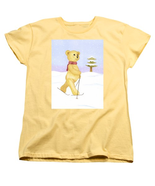 Women's T-Shirt (Standard Cut) featuring the painting Bear by Elizabeth Lock