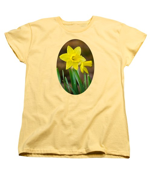 Beautiful Daffodil Flower Women's T-Shirt (Standard Cut) by Christina Rollo