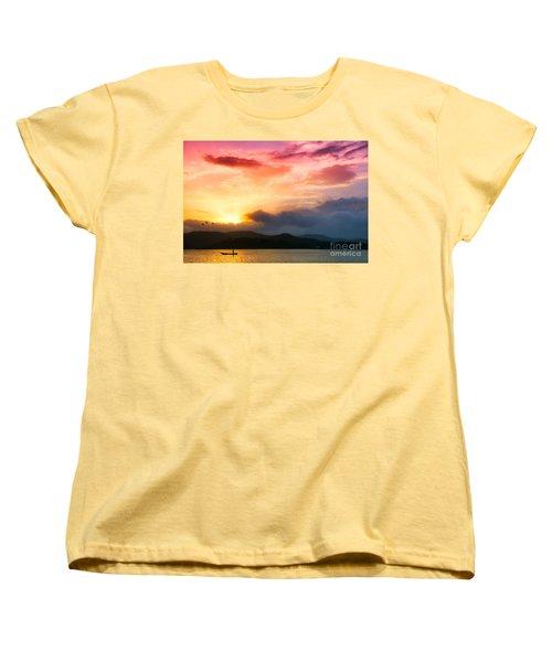 Beautiful Sunset Women's T-Shirt (Standard Cut) by Charuhas Images