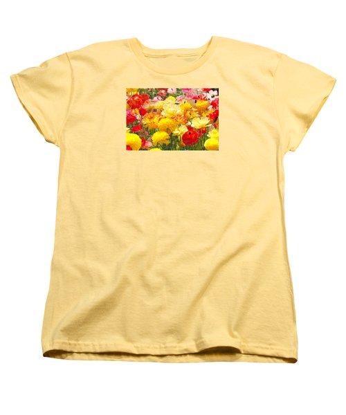 Bed Of Flowers Women's T-Shirt (Standard Cut)