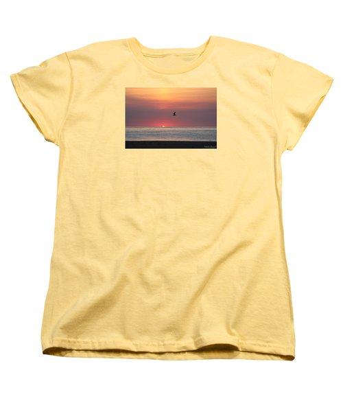 Women's T-Shirt (Standard Cut) featuring the photograph Beginning The Day by Robert Banach