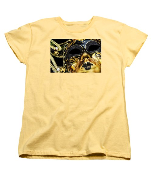 Women's T-Shirt (Standard Cut) featuring the photograph Behind The Mask by Carolyn Marshall