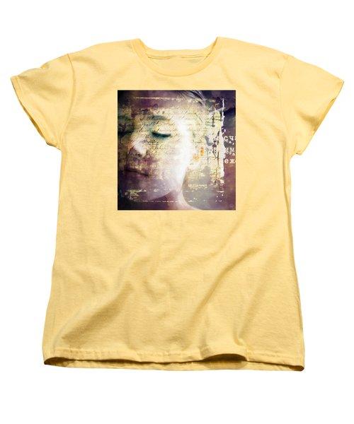 Women's T-Shirt (Standard Cut) featuring the digital art Behind The Words by Gun Legler