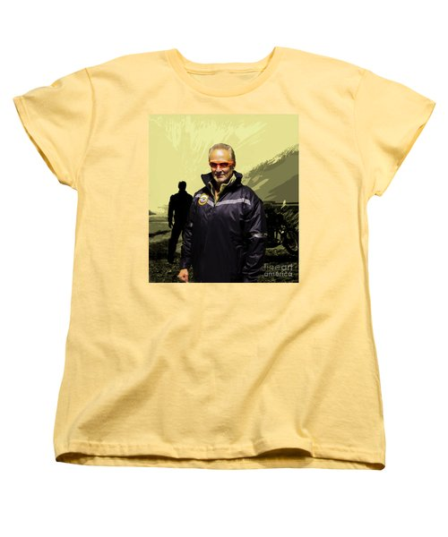 Women's T-Shirt (Standard Cut) featuring the photograph Being In The Movie IIi by Al Bourassa
