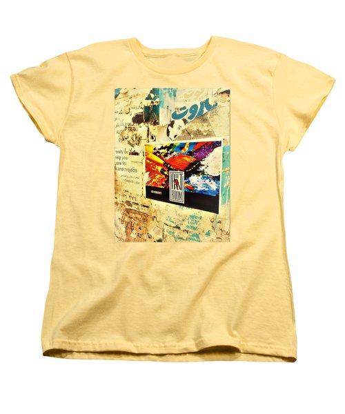 Beirut Wall  Women's T-Shirt (Standard Cut) by Funkpix Photo Hunter