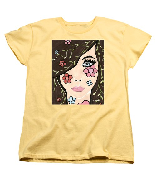 Women's T-Shirt (Standard Cut) featuring the painting Betty by Kathleen Sartoris