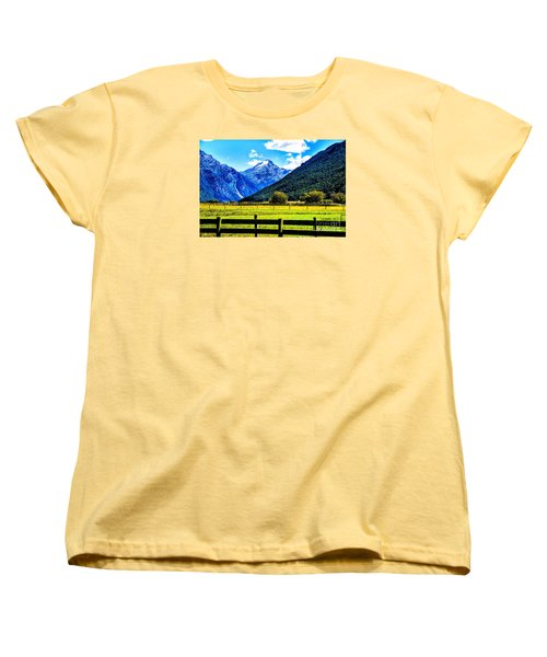 Women's T-Shirt (Standard Cut) featuring the photograph Beyond The Fence by Rick Bragan