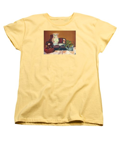 Women's T-Shirt (Standard Cut) featuring the painting Bible Stories by Jane Autry