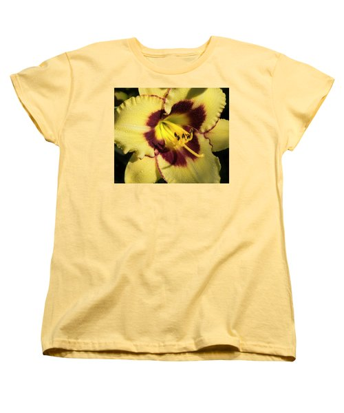 Women's T-Shirt (Standard Cut) featuring the photograph Bicolored Lily by Jean Noren