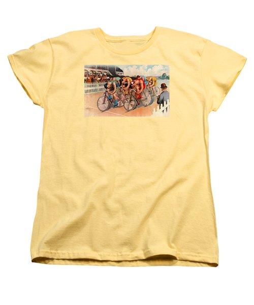 Bicycle Race 1895 Women's T-Shirt (Standard Cut) by Padre Art