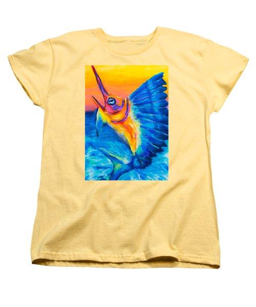 Big Blue Women's T-Shirt (Standard Cut) by Stephen Anderson