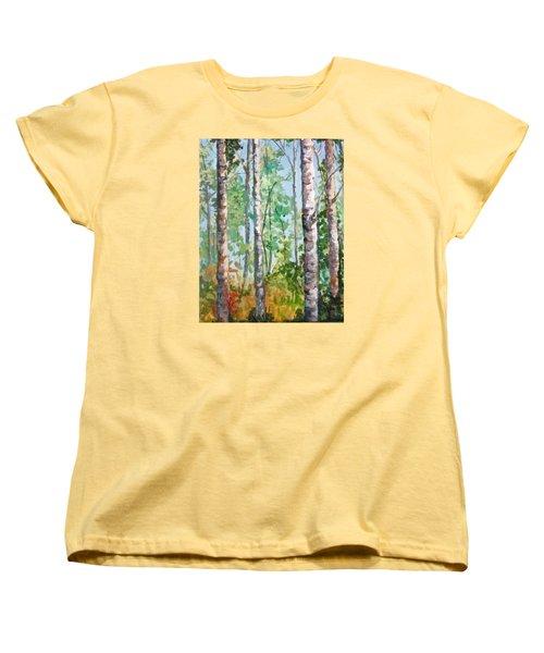 Birch Women's T-Shirt (Standard Cut) by Barbara O'Toole