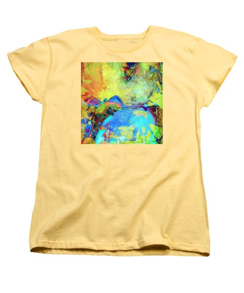Women's T-Shirt (Standard Cut) featuring the painting Birdland by Dominic Piperata