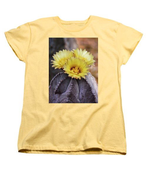 Women's T-Shirt (Standard Cut) featuring the photograph Bishop's Cap Cactus  by Saija Lehtonen