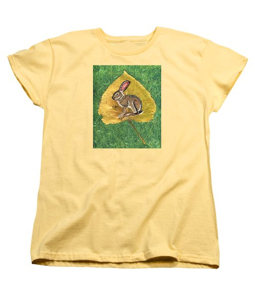 Black Tail Jack Rabbit  Women's T-Shirt (Standard Cut) by Ralph Root