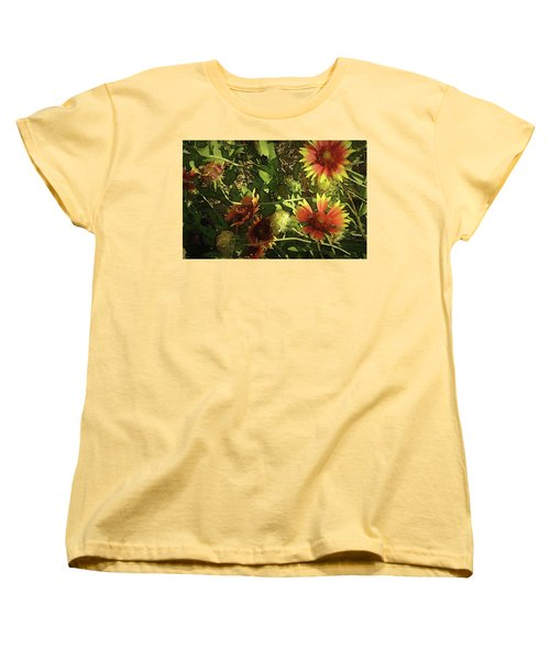 Blanket Flower Women's T-Shirt (Standard Cut) by Donna G Smith