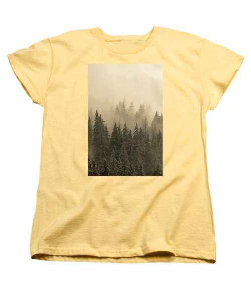 Women's T-Shirt (Standard Cut) featuring the photograph Blanket Of Back-lit Fog by Dustin LeFevre