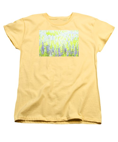 Blue Bonnet Impressions II Women's T-Shirt (Standard Cut) by Carolina Liechtenstein