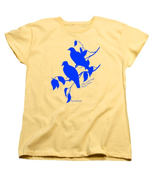 Blue Doves Women's T-Shirt (Standard Cut) by The one eyed Raven