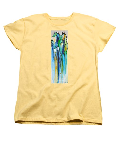 Blue Drip 2 Women's T-Shirt (Standard Cut) by Cher Devereaux