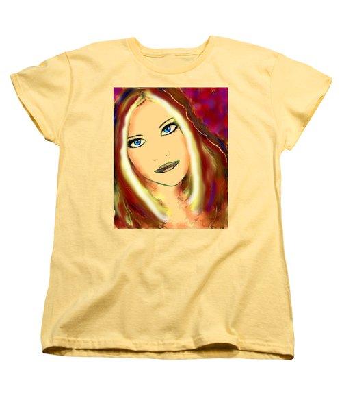 Blue Eyes Women's T-Shirt (Standard Cut) by Natalie Holland