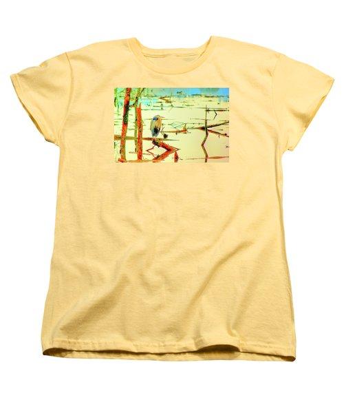Blue Heron Women's T-Shirt (Standard Cut) by Dale Stillman