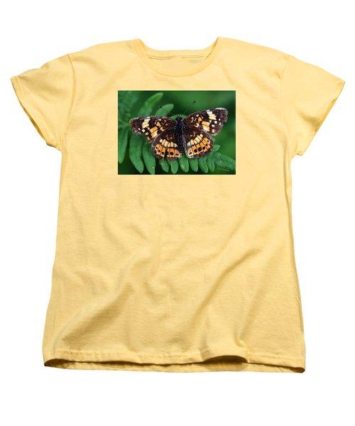 Women's T-Shirt (Standard Cut) featuring the photograph Blue Ridge Butterfly by Kay Lovingood