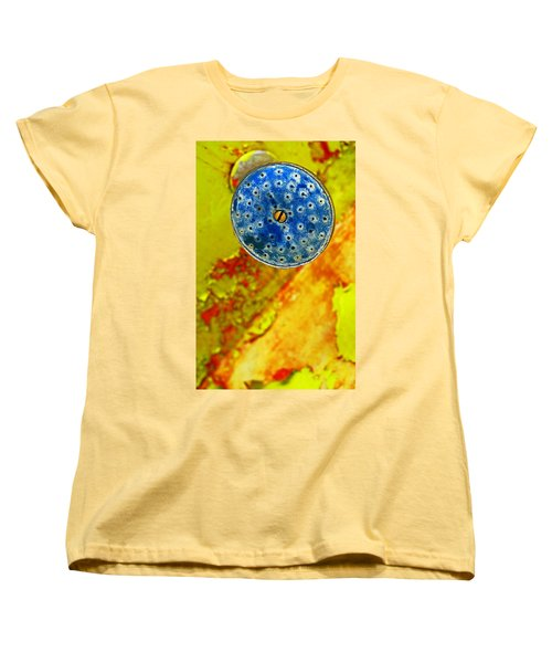 Blue Shower Head Women's T-Shirt (Standard Cut)