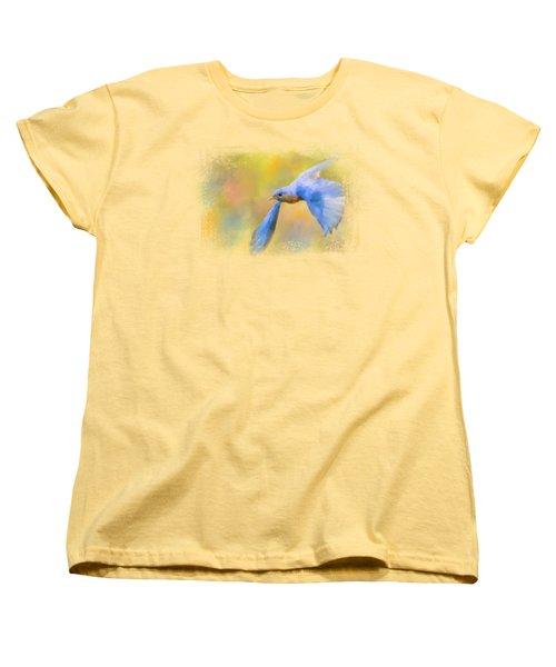 Bluebird Spring Flight Women's T-Shirt (Standard Cut) by Jai Johnson