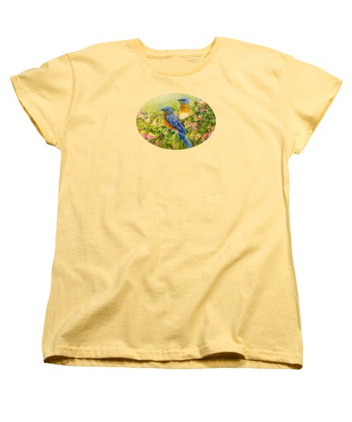 Bluebirds For T-shirts And Accessories Women's T-Shirt (Standard Cut) by Loretta Luglio