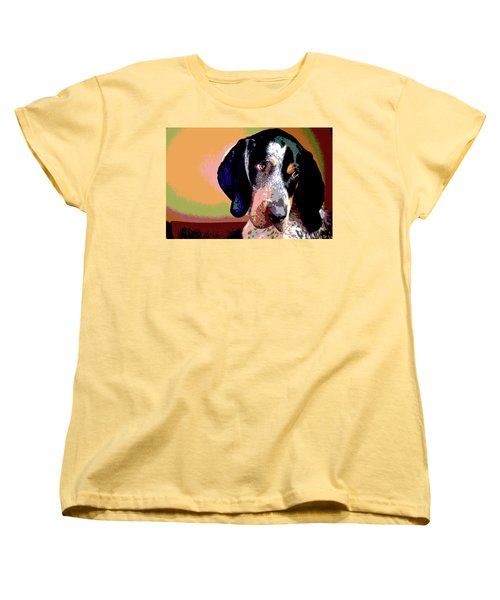 Bluetick Coonhound Women's T-Shirt (Standard Cut) by Charles Shoup