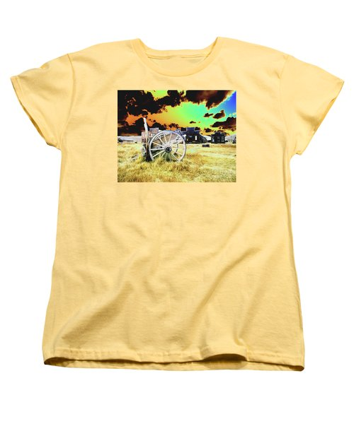 Women's T-Shirt (Standard Cut) featuring the photograph Bodie Wagon by Jim and Emily Bush