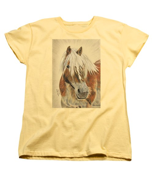 Women's T-Shirt (Standard Cut) featuring the drawing Bolero by Melita Safran