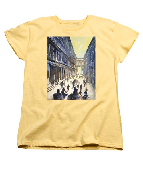 Women's T-Shirt (Standard Cut) featuring the painting Bologna Sunset- Italy by Ryan Fox