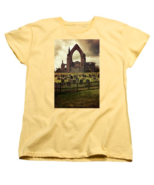 Bolton Abbey At Sunset Women's T-Shirt (Standard Cut) by Jaroslaw Blaminsky