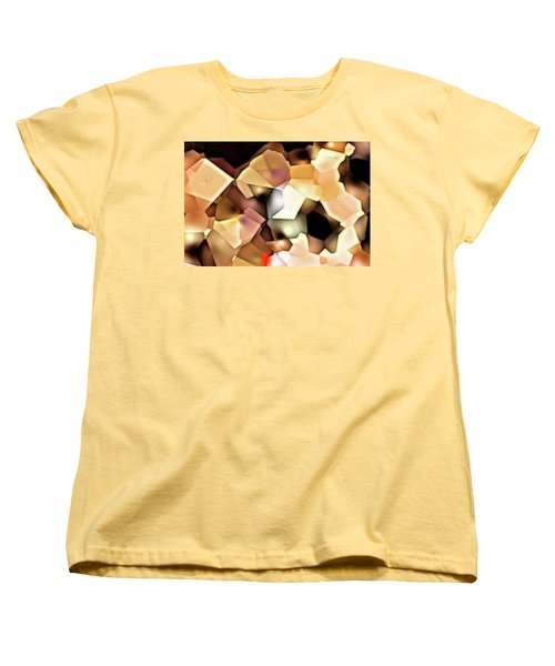 Women's T-Shirt (Standard Cut) featuring the digital art Bonded Shapes by Ron Bissett
