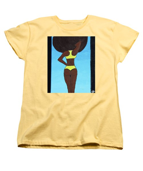 Bootylicious Women's T-Shirt (Standard Cut) by Cyrionna The Cyerial Artist