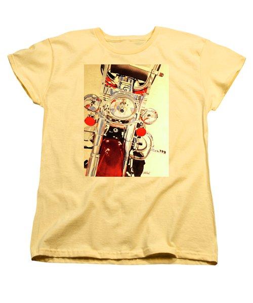 Born To Be Wild Women's T-Shirt (Standard Cut) by Cynthia Powell