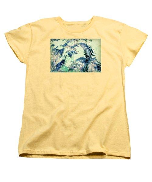 Women's T-Shirt (Standard Cut) featuring the mixed media Botanical Art - Fern by Bonnie Bruno