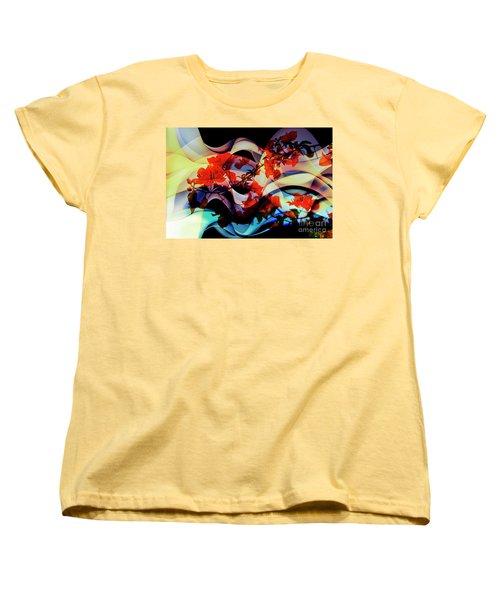 Women's T-Shirt (Standard Cut) featuring the photograph Bougainvillea At Joe's Secret Garden IIi by Al Bourassa